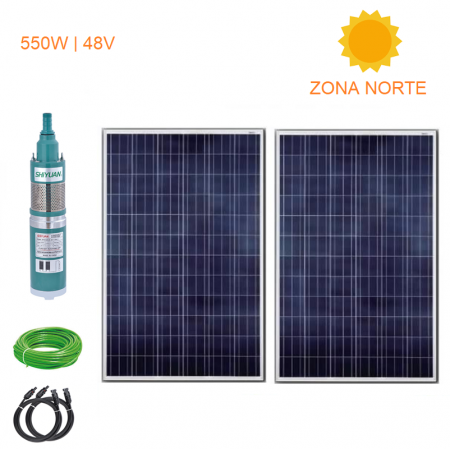 Kit Full Bomba Pozo Profundo 50 Mts 550W - Zona Norte
