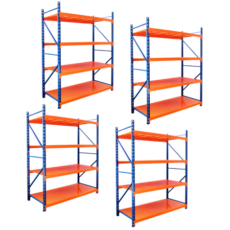 PACK X 4 Estanterias Rack Profesional Industrial